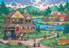 Jigsaw Puzzle Landscape Village Life Adirondacks Anglers 2000 pieces NEW