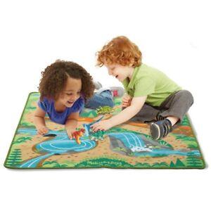 "Melissa & Doug Prehistoric Playground Dinosaur Activity Rug 39"" x 36"""