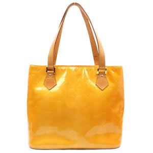 LOUIS VUITTON Houston Vernis Handbag Yellow M91121
