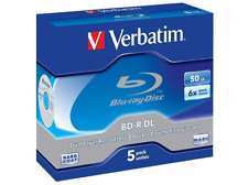 Blu Ray-R DL 50 GB - Verbatim Pack Jewel Case, 5 unidades, 6x