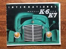 Vintage International Harvester Construction Dump Trucks K-6 K-7 Model Brochure