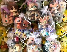 Littlest Pet Shop 1 DOG + 4 SURPRISE Pets GIFT BAG Random 5 Pc Lot LPS Authentic
