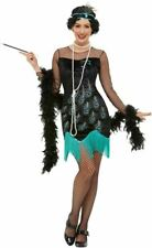20s Peacock Flapper Costume, Womens Fancy Dress, UK Size 8-10