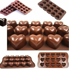 Silicone 15 Cavity Heart Cake Baking Mold Chocolate Pudding Soap Ice Cube Mould