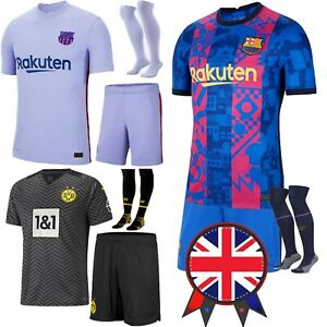 UK 21/22 New Kids Football Full Kits Boys Adult Soccer Jersey Training Strip Set