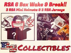 (Fri) RSA 6 BOX DAY BREAK - 3 Jerseys & 3 Mini Helmets NEW ENGLAND PATRIOTS