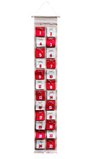 Adventskalender Weihnachtskalender Wandkalender aus Jute mit 24 Taschen 138 x 23