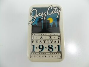 EDMONTON INTERNATIONAL JAZZ FESTIVAL 1981 LAPEL PIN McCoy Tyner Sonny Rollins