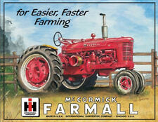 Farmall Model M Tractor Tin Sign - 12.5x16