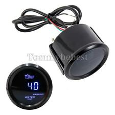 "2"" 52mm Blue Digital LED Fahrenheit Water Temp Temperature Gauge Black"