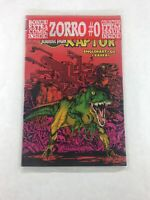 Raptor Jurassic Park 1 of 2 Comic Book Bonus Zorro #0 Comic Topps Comics