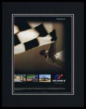 Gran Turismo 4 2005 PS2 Framed 11x14 ORIGINAL Advertisement