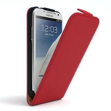 Tasche für Samsung Galaxy Note 2 Flip Case Schutz Hülle Cover Rot