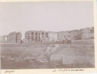 Egypte, Luxor (الأقصر), Le Temple de bateau  Vintage print. Tirage citrate