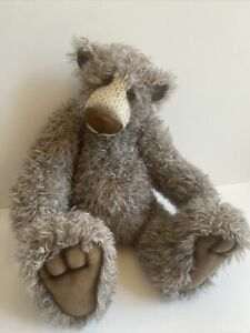 """ICKY Bears Original By Carey Wason UK Artist Moveable Jointed Teddy Bear 18"""""""