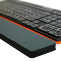 Keyboard rubber wrist support pad pc computer hand rest comfort hands cush  _