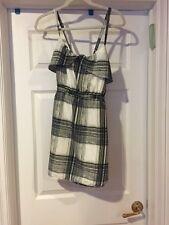 Aqua For Bloomingdale's Multi-color Plaid Polyester Sleeveless Mini Dress S