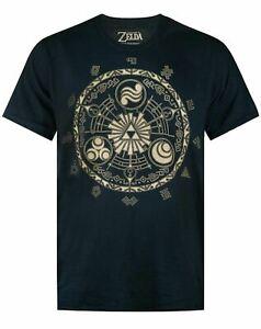 The Legend Of Zelda T Shirt Mens Adults Runes Gamer Nintendo Black Top