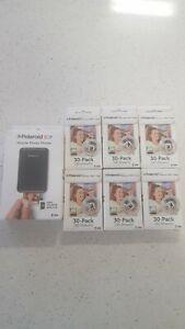 New Polaroid ZIP Mobile Instant Printer plus paper- Black