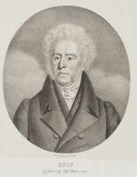 GLAESER, Portrait d. Großherzogl Johann Friedrich Wilhelm Huth, 19. Jh., Litho