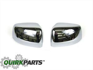 2011-2020 Jeep Grand Cherokee Mirror Covers Set CHROME MOPAR OEM