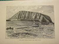 C1890 Antico Stampa ~ Guano Letti Chincha Isole ~ Vista IN (1875)