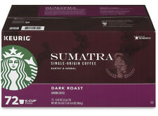 Starbucks Sumatra Coffee K- cups (72 ct) Brand New Ships Fast