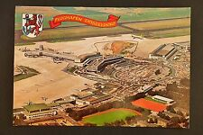 * mid 1970s large postcard of Düsseldorf Flughafen airport *