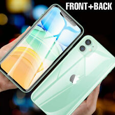 For iPhone 11 Pro MAX XR 7 8 Clear Soft TPU Case+Tempered Glass Screen Protector