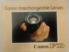 Canon FD lens guide book 1975