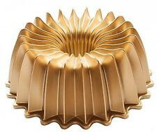 Elegant Party Bundt Pan Premiere Gold Nonstick Bakeware in Gold Nordic Ware