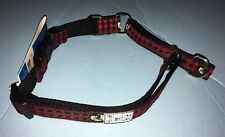 "NWT RC Pet Products Easy Clip Web Training Collar Red Plaid 19"" - 26"" 65905229"