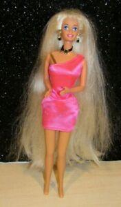Vintage 1994 Mattel Cut & Style Blonde Barbie Super Long Hair MINTY CONDITION