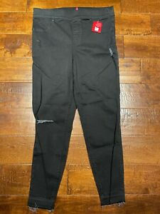 NWT SPANX JEAN-ISH ANKLE LEGGINGS 20018R BLACK SIZE Large