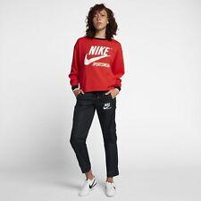 NIKE donna abbigliamento sportivo leggero Archive Zip Pantaloni M NERO