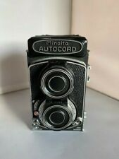 Minolta Autocord TLR Camera Rokkor 75mm f3.5 Lens w/leather case and box