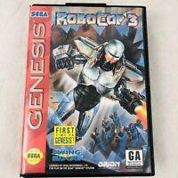 RoboCop 3 for Sega Genesis Robo Cop Game and Case No Manual