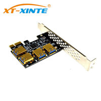 PCI-E 1x to 16x Riser Card 1 to 4 Slot USB3.0 Adapter for BTC Bitcoin Mining