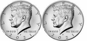 2021 P & D Kennedy Half Dollar 2 Coin Lot