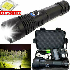 60000LM Zoomable XPE LED Flashlight Bright Light 3 Modes Lamp 18560 Torch AL
