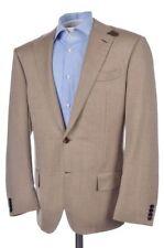 BIJAN Brown Half Norfolk Belted 100% Wool Mens Blazer Sport Coat Jacket - 42 R