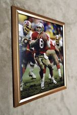 San Francisco 49ers Steve Young vs Washington Redskins 8x10 Photo Framed