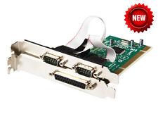 Combo 2 Port RS-232 + 1 Port Parallel Printer (LPT1) Ports PCI Controller Card