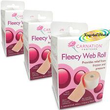 3x garofano Lanoso Roll Web Adesivo 7.5 CM x 75 cm Frizione Piede sollievo dalla pressione