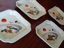 CRANE TURTLE  LONGEVITY PORCELAIN DISHES JAPAN CHINESE FOOD SOY  SAUCE SUSHI