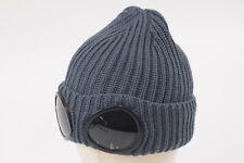 C.P. (CP) Company NWT Beanie Slate Grey w/ Goggles Flap 100% Wool Hat