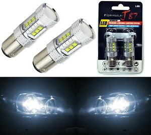 LED Light 80W 2357 White 5000K Two Bulbs Front Turn Signal Replacement Upgrade