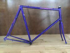 Vintage Lugged Steel Frame Set 62cm Performance Fork Tange Bike 90s 700c Large
