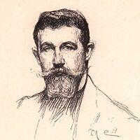 Portrait Maurice Eliot Peintre Peinture Épinay sous Sénart