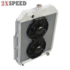 Radiator&10'' Dual Cooling Electric Fan Kit For 48-52 Ford F1-F8 Truck w/Chevy